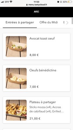 Restaurant avec menu QR code