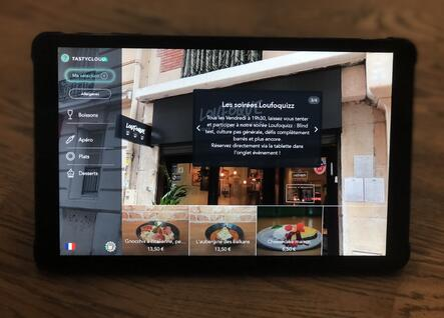 menu tablette tastycloud - Loufoque