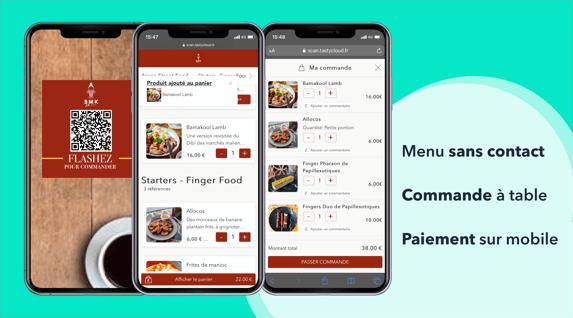 restaurants menu QR code