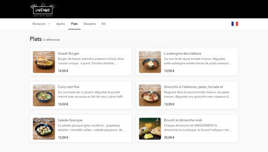tastycloud menu Loufoque